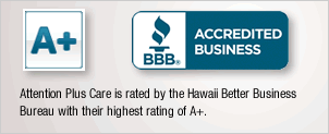 Highest Better Business Bureau rating A+